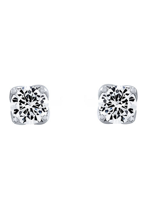 1/2 ct. t.w. Lab Created Diamond Stud Earrings in 14K White Gold