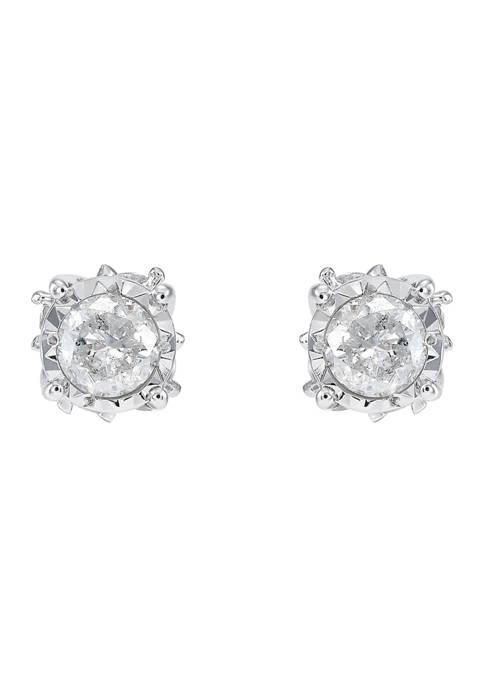 1/2 ct. t.w. Diamond Stud Earrings in 10K White Gold