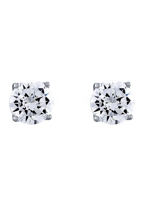 1.5 ct. t.w. Lab Created Diamond Stud Earrings in 14K White Gold