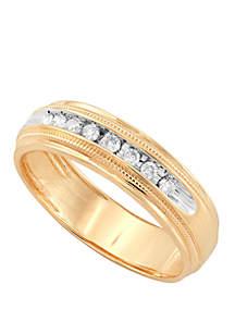 Belk & Co. Men's 1/5 ct. t.w. Diamond Band Ring in 10k Yellow Gold