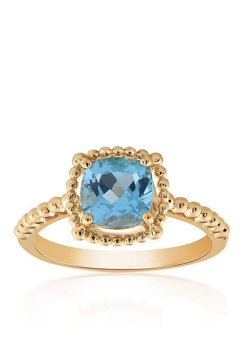 Topaz Beaded Ring in 10K Yellow Gold