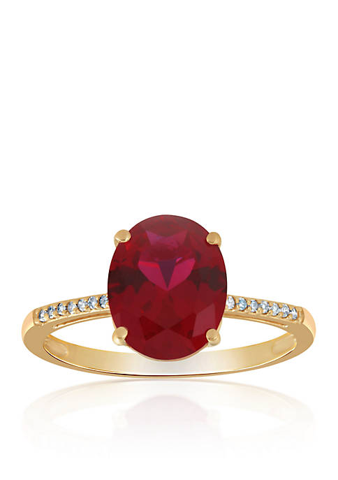 Belk & Co. Created Ruby & Diamond Ring