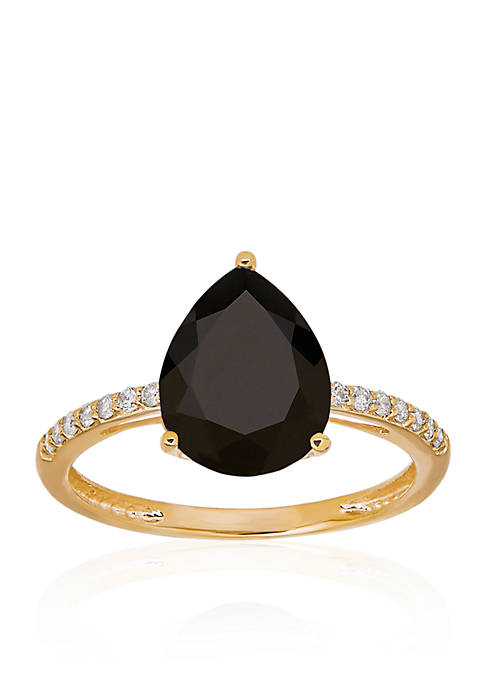 Onyx Ring in 10K Yellow Gold