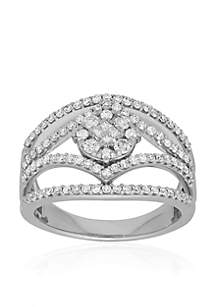 Diamond Cluster Ring in 10K White Gold