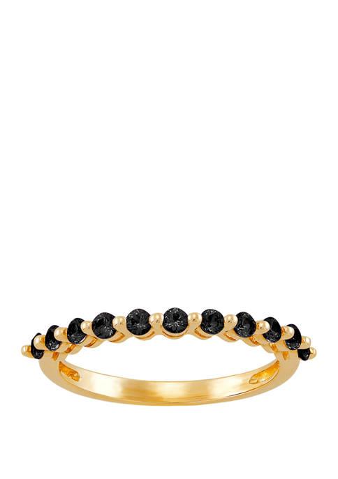 Belk & Co. Onyx Ring in 10K Yellow