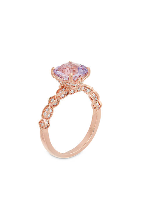 Belk & Co. 10K Rose Gold Amethyst Diamond