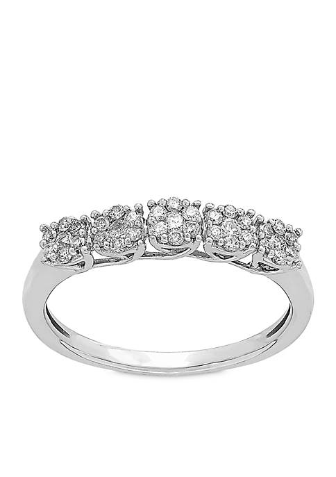 My Forever 1/4 ct. t.w. Diamond Composite Wedding Band in 10K White Gold