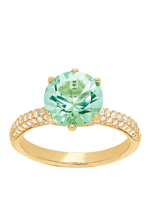 Belk & Co. 10K Yellow Gold Green Amethyst