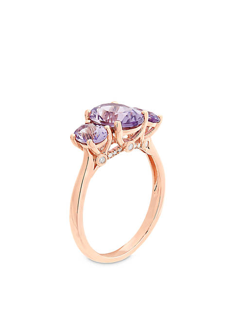 Belk & Co. 10K Rose Gold Pink Amethyst