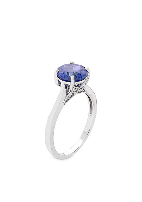 Belk & Co. 10K White Gold Tanzanite Diamond