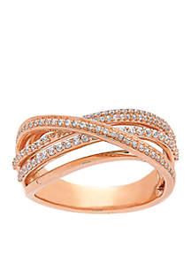 Belk & Co. 10k Rose Gold Diamond Twist Ring