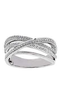 1/2 ct. t.w. Diamond Twist Ring in 10k White Gold