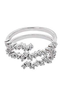1/2 ct. t.w. Diamond Wrap Ring in 10k White Gold