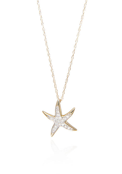Belk & Co. 0.10 ct. t.w. Diamond Starfish