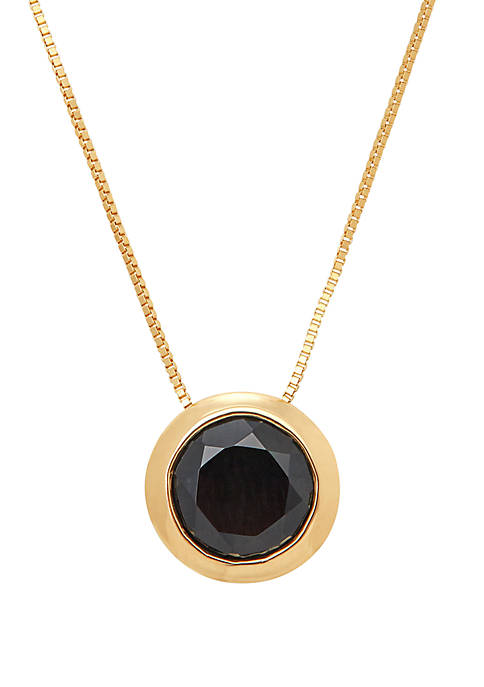 1.15 ct. t.w. Onyx Necklace In 10k Yellow Gold