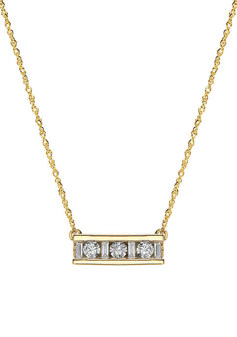 Belk & Co. 1/4 ct. t.w. Bar Necklace