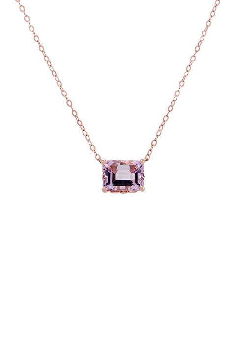 2.15 ct. t.w. Pink Amethyst Rolo Chain Pendant Necklace in 10K Rose Gold