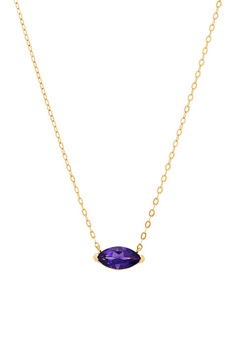 7/8 ct. t.w. Amethyst Pendant Necklace in 10k Gold