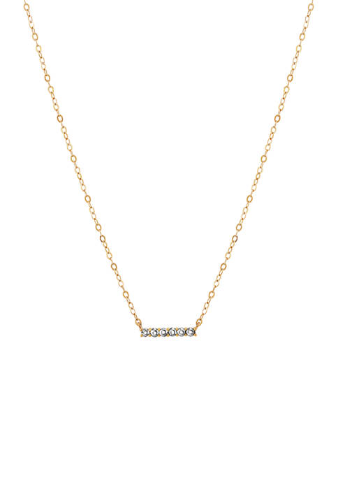 Belk & Co. Created White Sapphire Necklace in