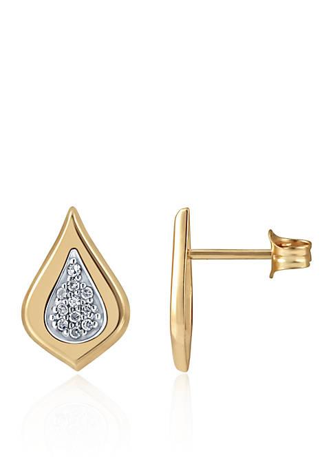 0.08 ct. t.w. Diamond Earrings in 10k Yellow Gold