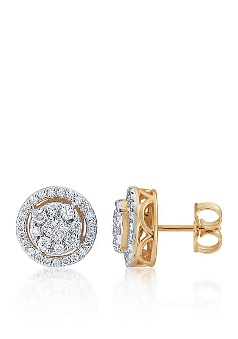 Belk & Co. 0.488 ct. t.w. Diamond Earrings