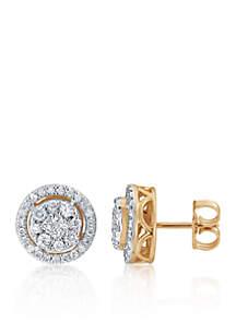 0.488 ct. t.w. Diamond Earrings in 10k Yellow Gold