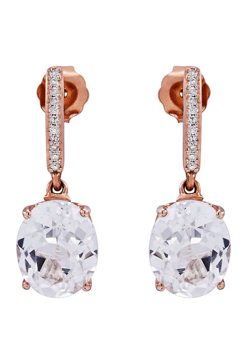 5.04 ct. t.w. Lab Created White Sapphire Earrings in 10k Rose Gold