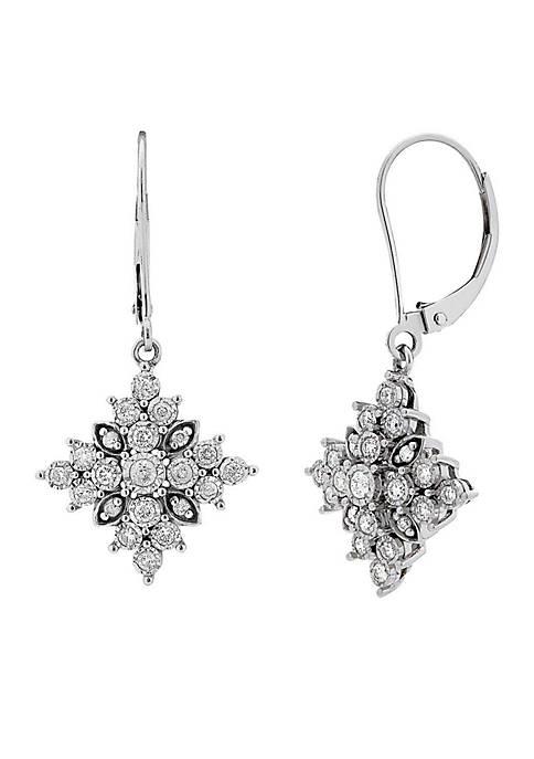 Belk & Co. 10k White Gold Diamond Drop