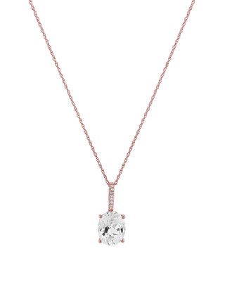 High Polish 14k Rose Gold Shovel Pendant Necklace