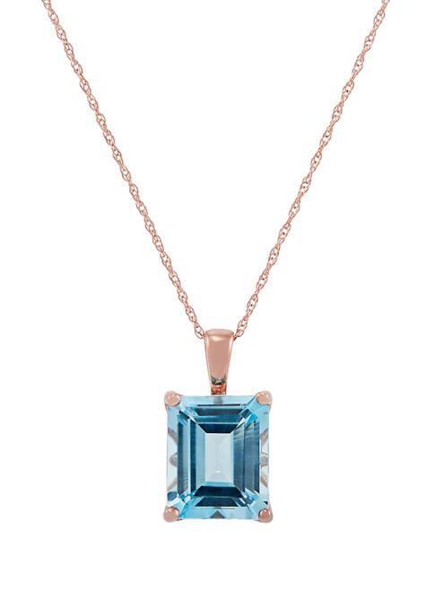 5.45 ct. t.w. Sky Blue Topaz Pendant Necklace in 10K Rose Gold
