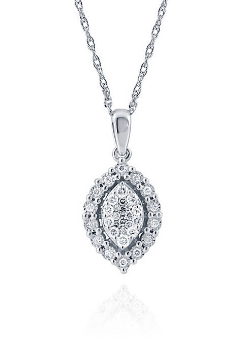 Belk & Co. 0.34 ct. t.w. Marquise Pendant