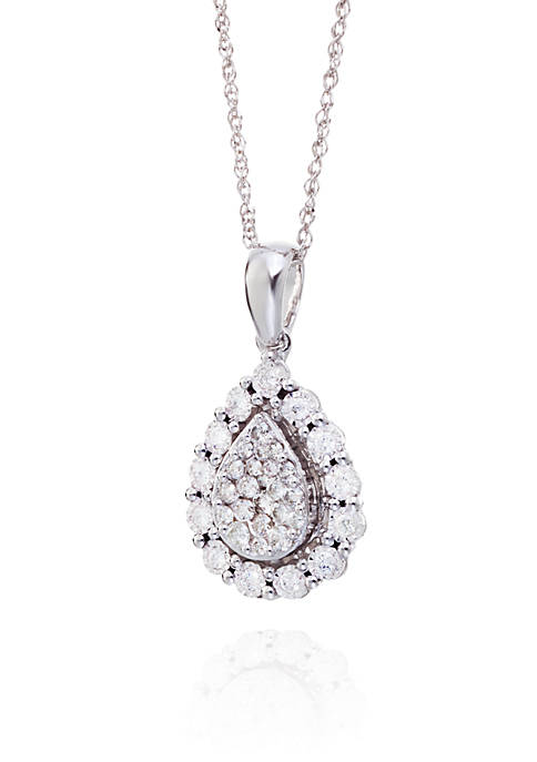 Belk & Co. Diamond Pendant in 10K White