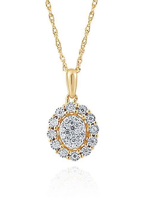 Belk & Co. 0.27 Diamond Necklace in 10K