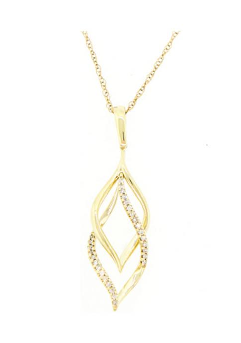 Belk & Co. 1/10 ct. t.w. Diamond Pendant