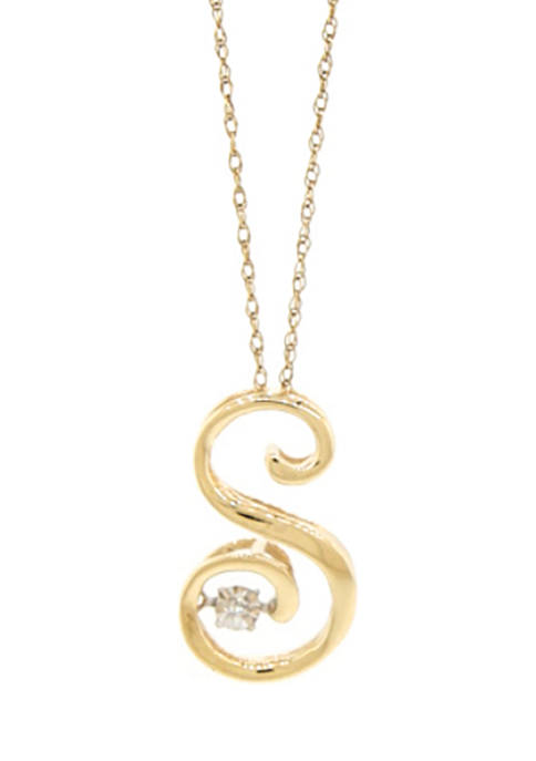 1/10 ct. t.w. Diamond Pendant Necklace in 10K Yellow Gold