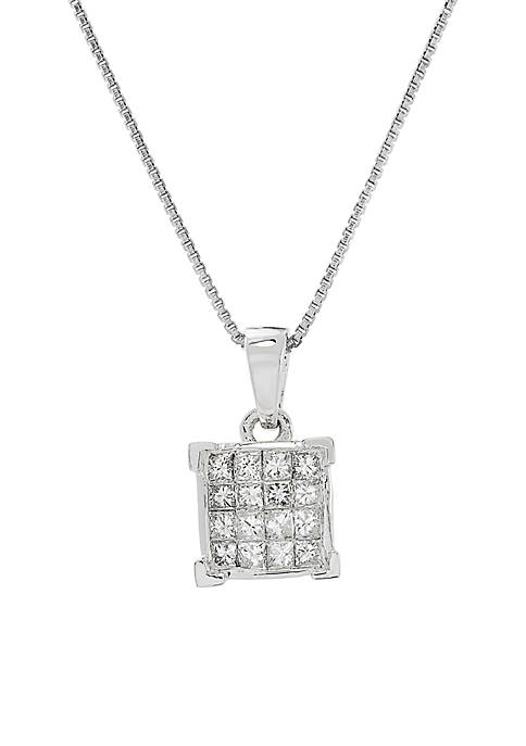 Belk & Co. 1/4 ct. t.w. Diamond Pendant