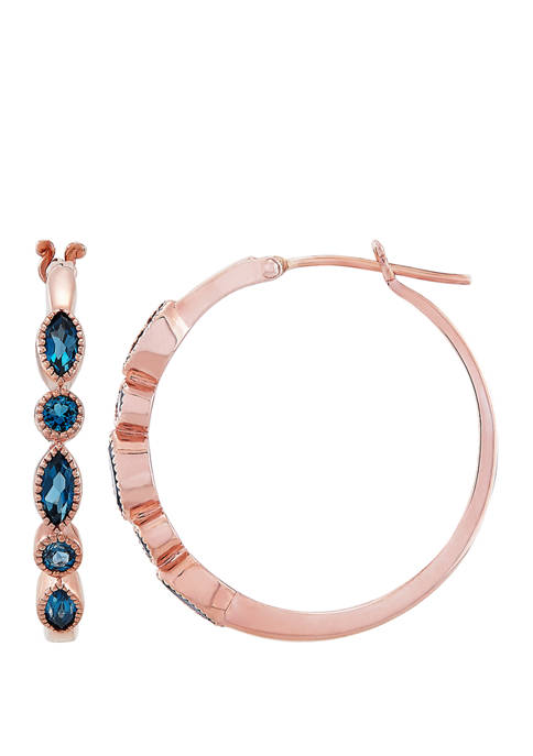 Belk & Co. London Blue Topaz Hoop Earrings