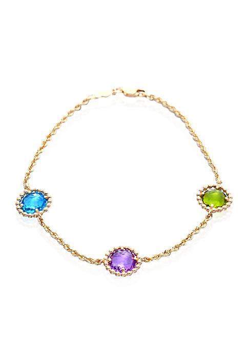 Belk & Co. Multi Blue Topaz Bracelet in