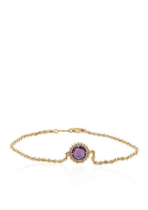 Belk & Co. Purple Amethyst Bracelet in 10K