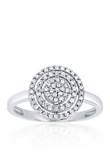 0.26 ct. t.w. Circle Diamond Cluster Ring in 10K White Gold
