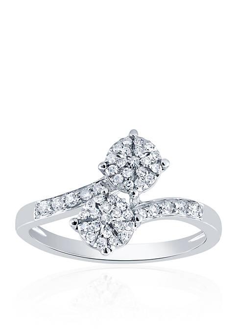.252 ct. t.w. Diamond Ring in 10k White Gold