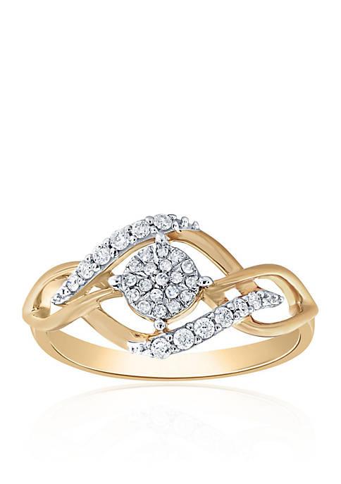 Belk & Co. 0.20 ct. t.w. Diamond Cluster