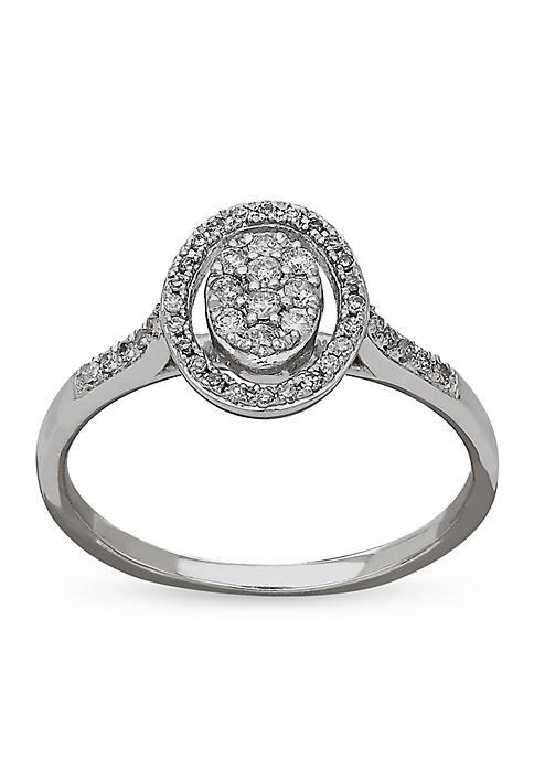 Belk & Co. Diamond Cluster Ring in 10k