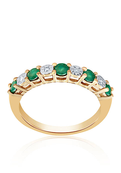 Belk & Co. Emerald and Diamond Ring in