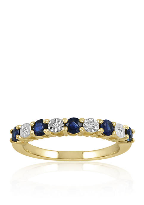 Belk & Co. Diamond & Sapphire Band Ring