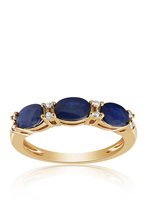 Belk & Co. Sapphire 3 Stone Band Ring