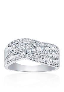 0.49  ct. t.w. Diamond Ring in 10K White Gold
