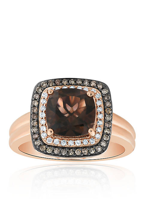 Belk & Co. Smokey Quartz and Diamond Ring