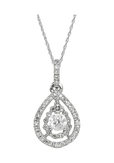 1/3 ct. t.w. Diamond Pendant Necklace in 10K White Gold