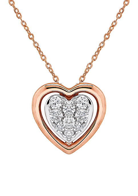 Belk & Co. 1/4 ct. t.w Diamond Heart
